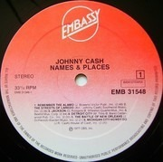 LP - Johnny Cash - Names And Places