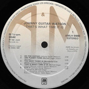 LP - Johnny Guitar Watson - That's What Time It Is