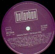 LP - Johnny Cash - 20 Super Hits