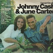 LP - Johnny Cash & June Carter - Carryin' On With