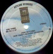 Double LP - Joni Mitchell - Don Juan's Reckless Daughter