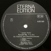 LP - Haydn - Violinkonzerte C-dur Hob VIIa : 1 · G-dur Hob VIIa : 4 - Black Labels
