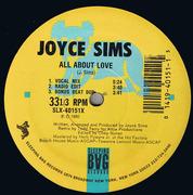 12inch Vinyl Single - Joyce Sims - All About Love - Still Sealed