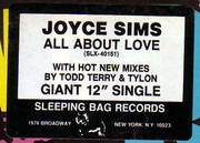 12inch Vinyl Single - Joyce Sims - All About Love