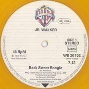12inch Vinyl Single - Junior Walker - Back Street Boogie - orange transparent