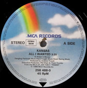 12inch Vinyl Single - Kansas - All I Wanted