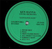 LP - Ken Hanna And His Orchestra - Jazz Dance Date