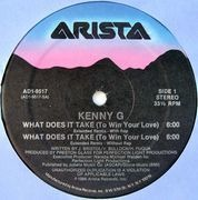 12inch Vinyl Single - Kenny G - What Does It Take (To Win Your Love)