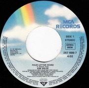 7inch Vinyl Single - Kim Wilde - Four Letter Word