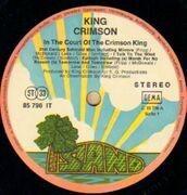 LP - King Crimson - In The Court Of The Crimson King - pink rim