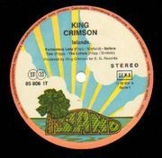 LP - King Crimson - Islands - PINK RIM