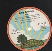 LP - King Crimson - Red - original 1st german Pink Rim