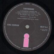 LP - King Crimson - Earthbound - Original  1st UK. Black/Pink Label