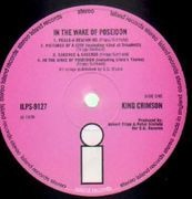 LP - King Crimson - In The Wake Of Poseidon - Original 1st UK, Pink i Island