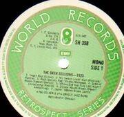 LP - King Oliver - Okeh Sessions 1923