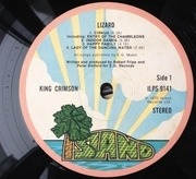 LP - King Crimson - Lizard - original 1st uk pink rim