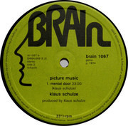 LP - Klaus Schulze - Picture Music - ORIGINAL 1st GERMAN GREEN BRAIN