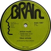 LP - Klaus Schulze - Picture Music - GREEN BRAIN