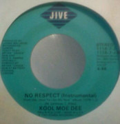 7inch Vinyl Single - Kool Moe Dee - No Respect