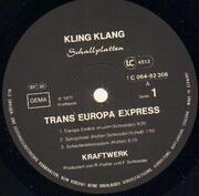 LP - Kraftwerk - Trans Europa Express - ORIGINAL + Poster + Inner