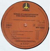 LP - Kris Kristofferson - Songs Of Kristofferson - Brown Labels