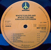 LP - Kris Kristofferson - Who's To Bless And Who's To Blame