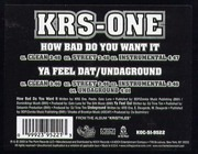 12inch Vinyl Single - KRS-One - How Bad Do You Want It