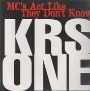 12inch Vinyl Single - KRS-One - MC's Act Like They Don't Know