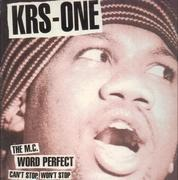 12inch Vinyl Single - KRS-One - Can't Stop, Won't Stop / The MC / Word Perfect