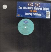 12inch Vinyl Single - KRS-One - Step Into A World (Rapture's Delight) (The Remix) - Feat. Puff Daddy