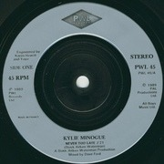 7inch Vinyl Single - Kylie Minogue - Never Too Late