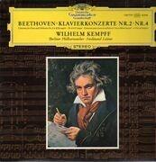 LP - Beethoven - Klavierkonzerte Nr.2, Nr.4, Wilhelm Kempf, Berliner Philh., F. Leitner - Tulip Label