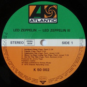 LP - Led Zeppelin - Led Zeppelin III - Gatefold rotating-wheel sleeve