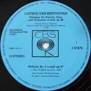 LP - Leonard Bernstein - Ludwig van Beethoven - 5. Sinfonie Chorfantasie