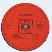 LP - Leonard Cohen - Songs Of Leonard Cohen - BOXED CBS