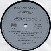 LP - Lester Young - Vol. 2 - Live Recordings 1948-1956