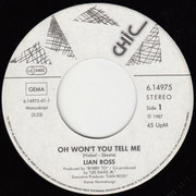 7inch Vinyl Single - Lian Ross - Oh Won't You Tell Me