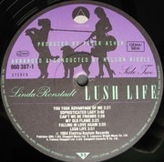LP - Linda Ronstadt With Nelson Riddle And His Orchestra - Lush Life