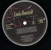 LP - Linda Ronstadt - Simple Dreams