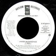 7inch Vinyl Single - Lindsey Buckingham - It Was I
