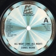 7'' - Lionel Richie - All Night Long (All Night) - Solid Center