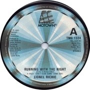 7'' - Lionel Richie - Running With The Night - Solid Centre