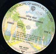 Double LP - Little Feat - Waiting For Columbus (Live)