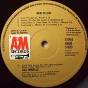 LP - Liza Minnelli - New Feelin'