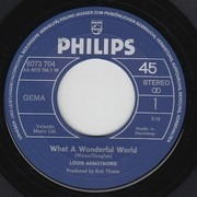 7inch Vinyl Single - Louis Armstrong - What A Wonderful World