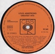 LP - Louis Armstrong - Greatest Hits - Club Sonderauflage