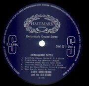LP - Louis Armstrong & His All Stars - Ambassador Satch
