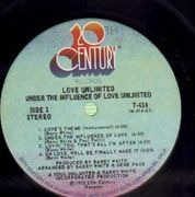 LP - Love Unlimited (BARRY WHITE) - Under The Influence Of Love Unlimited