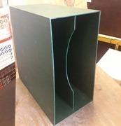 Vinyl Storage - LP-Box, 70er Jahre - in dunkelgrün, für ca. 40 LPs