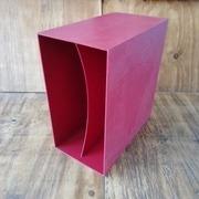 Vinyl Storage - LP-Box, 70er Jahre - in dunkelrot, für ca. 40 LPs